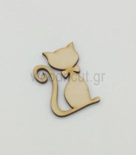 Ξύλινη γάτα διάκοσμησης | woodncut - ξύλινες κατασκευές
